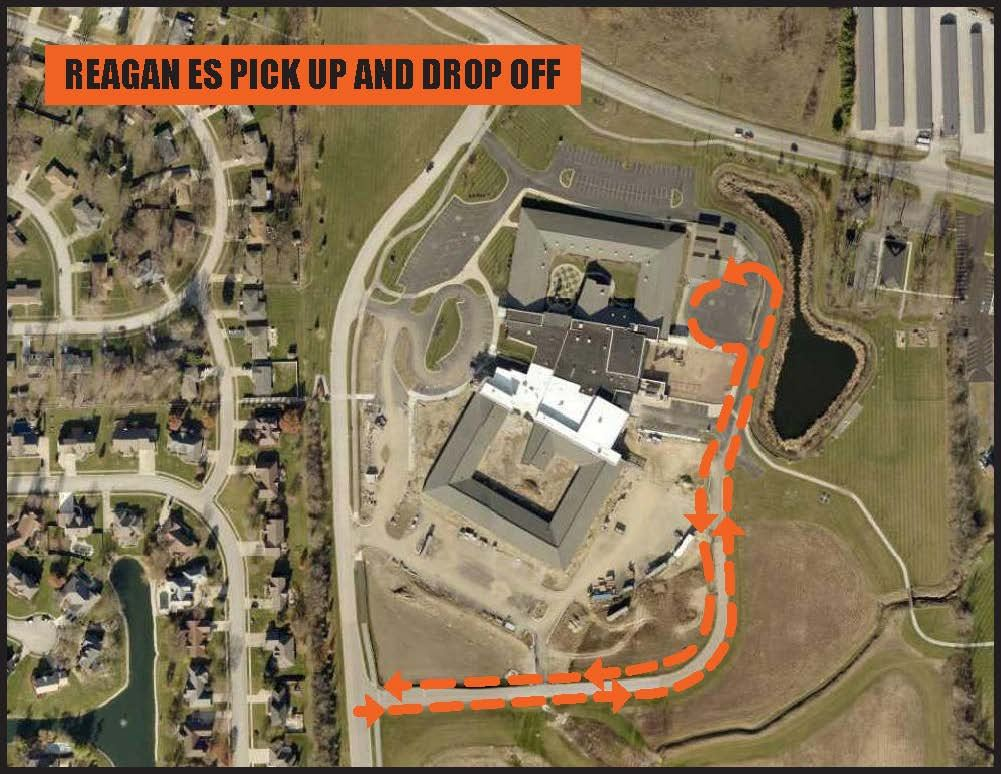 Reagan pickup drop off map