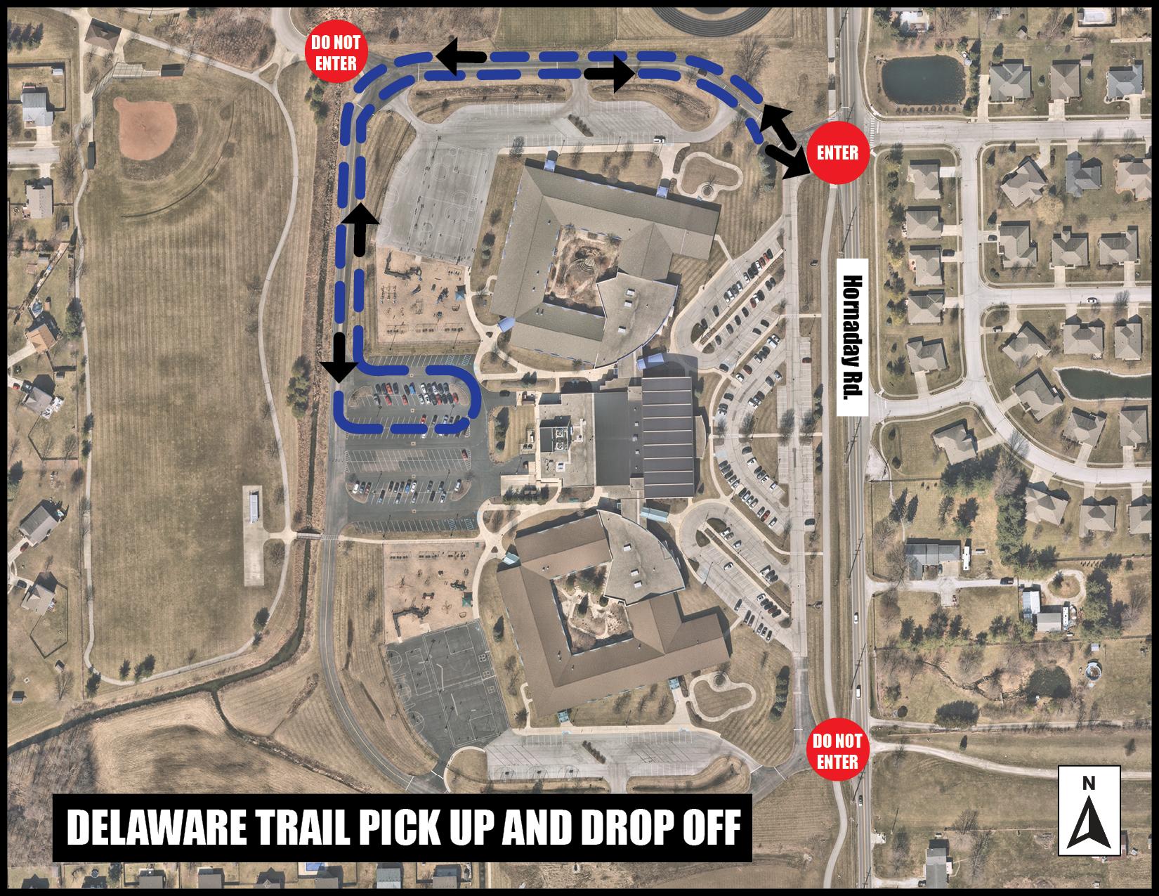 DT Pickup Drop off map