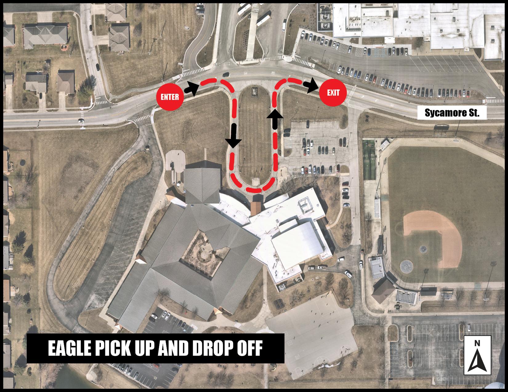 Eagle Pickup Drop off map