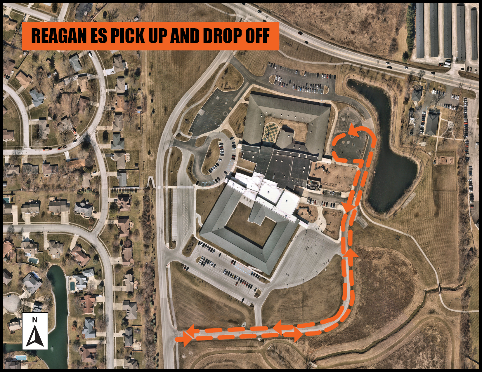 Reagan pickup drop off map